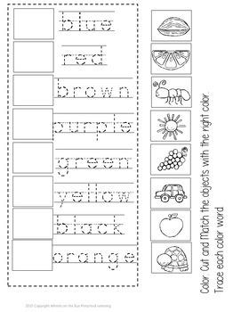 Color Words Interactive Book
