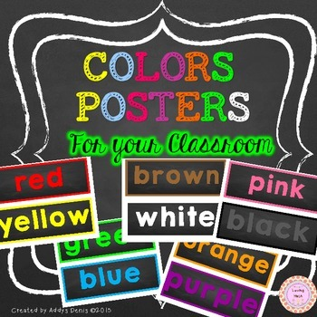 Color Words Labels Posters