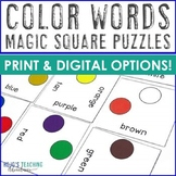 Preschool Centers: Color Words Cut and Paste, Matching Game, or FUN Activity