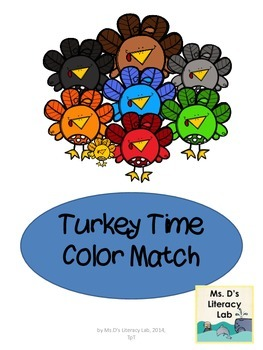 Color Words (Turkeys--free)