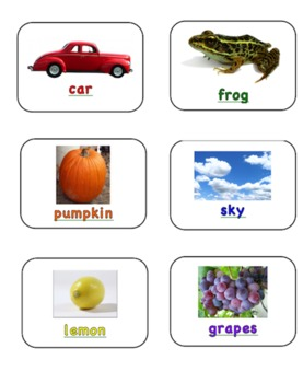 Color Words Matching Cards EDITABLE!