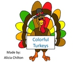 Color Words Matching Turkeys