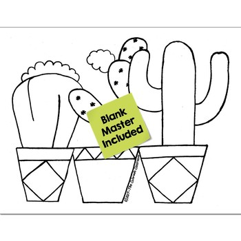 Color Words Math Practice Cactus Color by Number