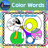 Color Words Math Practice Pi Day Color by Number