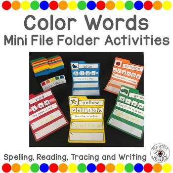 Color Words Mini File Folder Activities