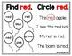 Color Words Mini Workbook - Red - (FREEBIE)