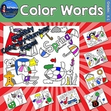 Color Words Monthly Color by Number Bundle