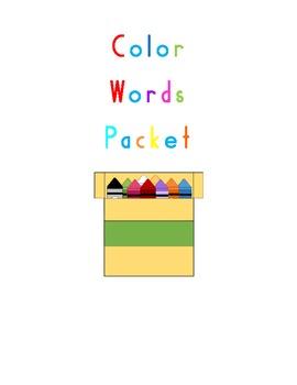 Word Work/Color Words Packet