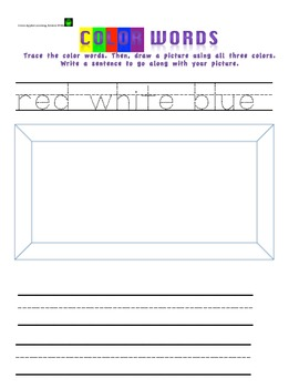 Color Words Packet- jokes, scrambled words, write sentences, color