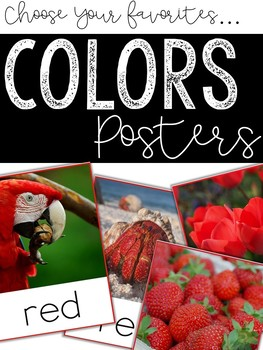 Color Words Photo Posters: Customize Your Set!