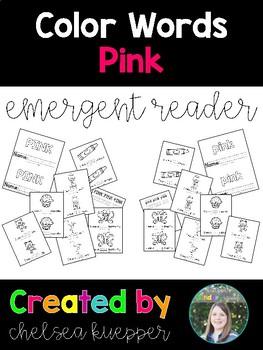 Color Words - Pink Emergent Reader
