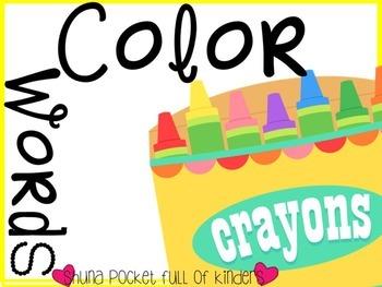 Color Words Playdough Mats