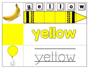 Color Words - Pocket Chart Cards