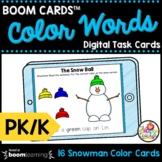 Color Words & Poem Winter Boom Cards™ Pre-K & Kindergarten
