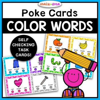 Color Words Poke Cards