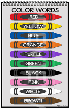 Clever image with color words printable