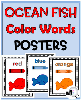 Color Word Posters  {Ocean Theme Classroom Decor}