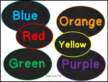 Color Words Posters Classroom Decor by Peas in a Pod