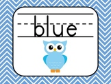 Color Words Posters-Owl Theme