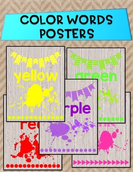 Color Words Posters ~ Shiplap and Burlap