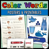 Color Words Posters and Printables