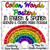 Color Words Posters in English & Spanish! Blacklines & Coloring Pages Included