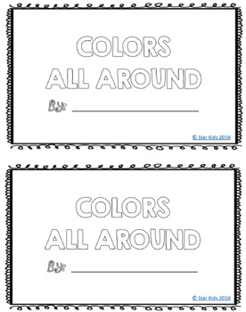 Color Words Practice for Kindergarten and First Grade