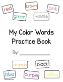Color Words Practice Book