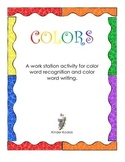 Color Words Practice Pages