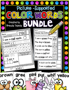 Color Words: Practice Pages, Posters, Assessment