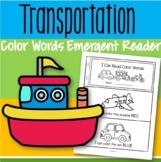 Color Words Predictable Emergent Reader FREE