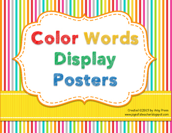 photo regarding Color Words Printable named Coloration Words and phrases Printable Posters