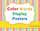 Color Words Printable Posters