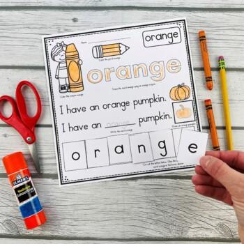 Color Words Printables (Trace it, Draw it, Write it, Read it, & Cut & Paste)