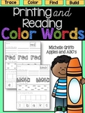 Color Words: Printing and Reading / Distance Learning