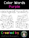 Color Words - Purple Emergent Reader