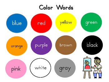 Color Words Quick Look for Students