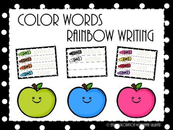 Color Words Rainbow Writing