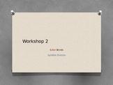Color Words Read 180 Workshop 2 rBook flex Syllable Division