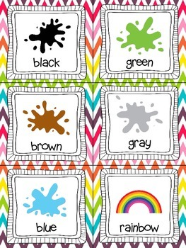 Color Words! Read, Write, and Count the Room {Literacy and Math} {CCSS}