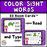 Color Words - Reading and Writing Boom Cards