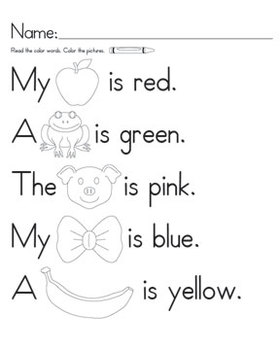 Color Words Rebus