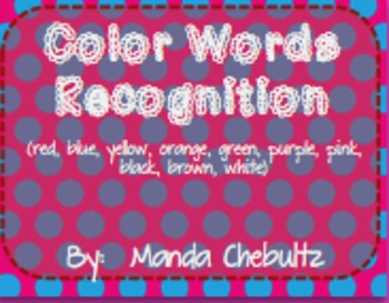 Color Words Recognition