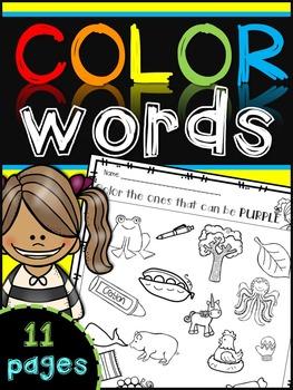 Color Words Recognition {color the color}