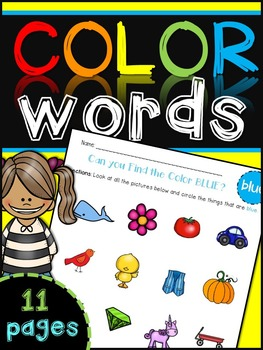 Color Words Recognition {circle the color}
