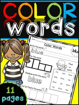 Color Words Recognition {cut and paste}