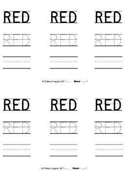 Color Words - Red Emergent Reader
