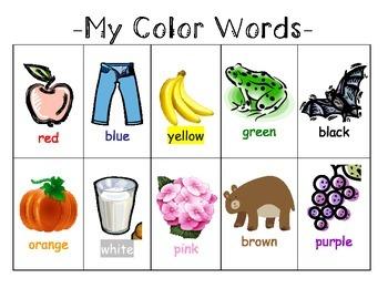 Color Words Resource
