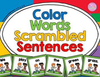 Color Words Scrambled Sentences