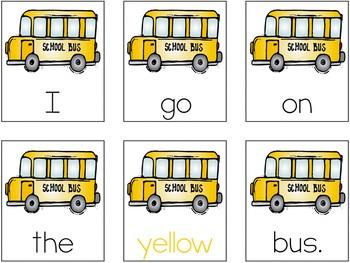 Color Words Sentence Scramble